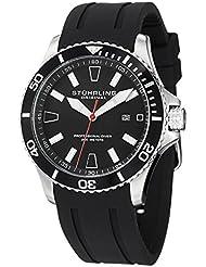 Stuhrling Original Aquadiver Regatta Mens Black Watch - Quartz Analog Swim Sports Watch - Black Dial Date Display...