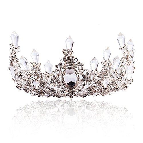 XPY&DGX Accessoires De Cheveux De Mariée En Épingle À Cheveux De Mariage,Deux cygne nuptiale tiara grande couronne collier ensemble robe de mariée accessoires de cheveux de mariage