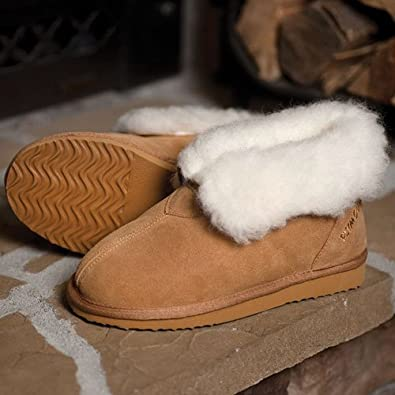 Amazon.com | Plymouth Mocs Mens Ankle Boot Slippers | Snow Boots