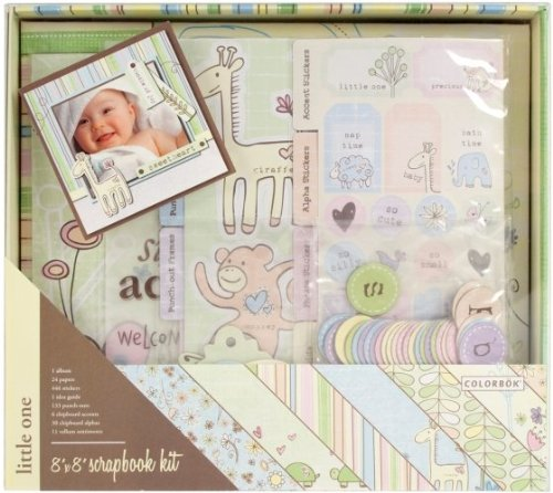 Colorbok Little One Postbound Album Kit, 8-Inch by 8-Inch (Kit Scrapbook Colorbok)