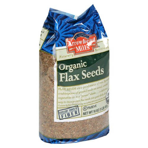 Arrowhead Mills Organic Flax Seeds, 16-Ounce Bags(Pack of 12)