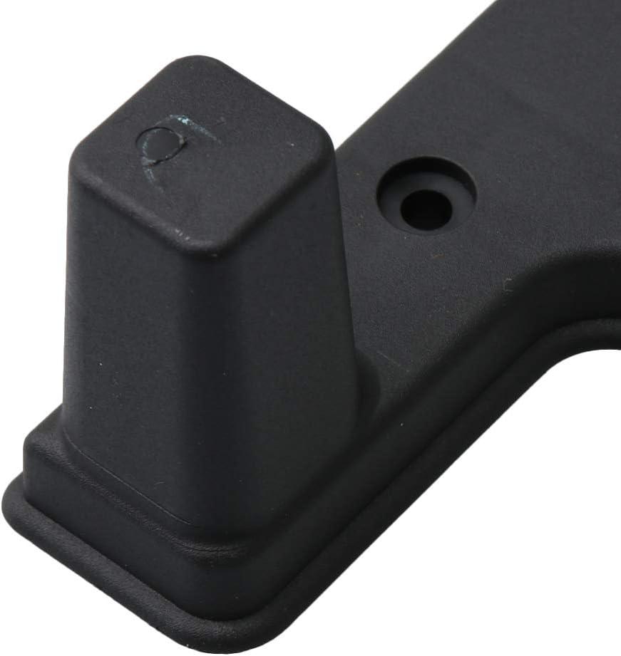 Yibuy Plastic Travel Luggage Part Feet Bracket 6.3mm Hole Diameter with Screws