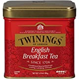 Twinings of London English Breakfast Loose Tea Tins, 3.53 Ounces (Pack of 6)
