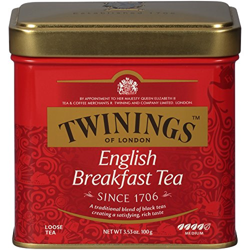 Twinings Assam Tea - Twinings of London English Breakfast Loose Tea Tins, 3.53 Ounce (Pack of 6)
