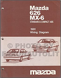 1991 mazda 626 mx 6 standard compact abs wiring diagram service 1991 mazda 626 mx 6 standard compact abs wiring diagram service manual factory mazda amazon books asfbconference2016 Images
