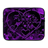 Ministoeb Purple Love Seamless Art Laptop Storage Bag - Portable Waterproof Laptop Case Briefcase Sleeve Bags Cover