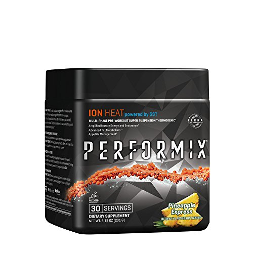 PERFORMIX ION HEAT Multi-Phase Pre-Workout, powered by SST Unrelenting Energy, Enhanced Muscle Endurance, Heightened Mental Focus, Clinically Dosed Transparent Labeling – 30 Servings Pineapple Express