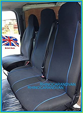 RHINO AUTO RWW9257 Professional Deluxe Van Seat Covers Single Drivers And Double Passengers Black