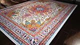 Generations pre8023White_2x4 Oriental Traditional Isfahan Persian Area Rug,...