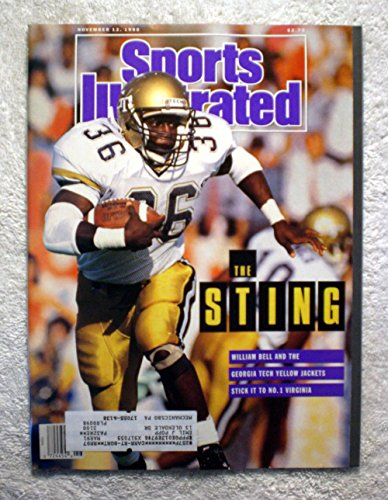 William Bell - The Georgia Tech Yellow Jackets defeat No. 1 Virginia - Sports Illustrated - November 12, 1990 - College Football - - Jackets Tech 1990 Georgia Yellow
