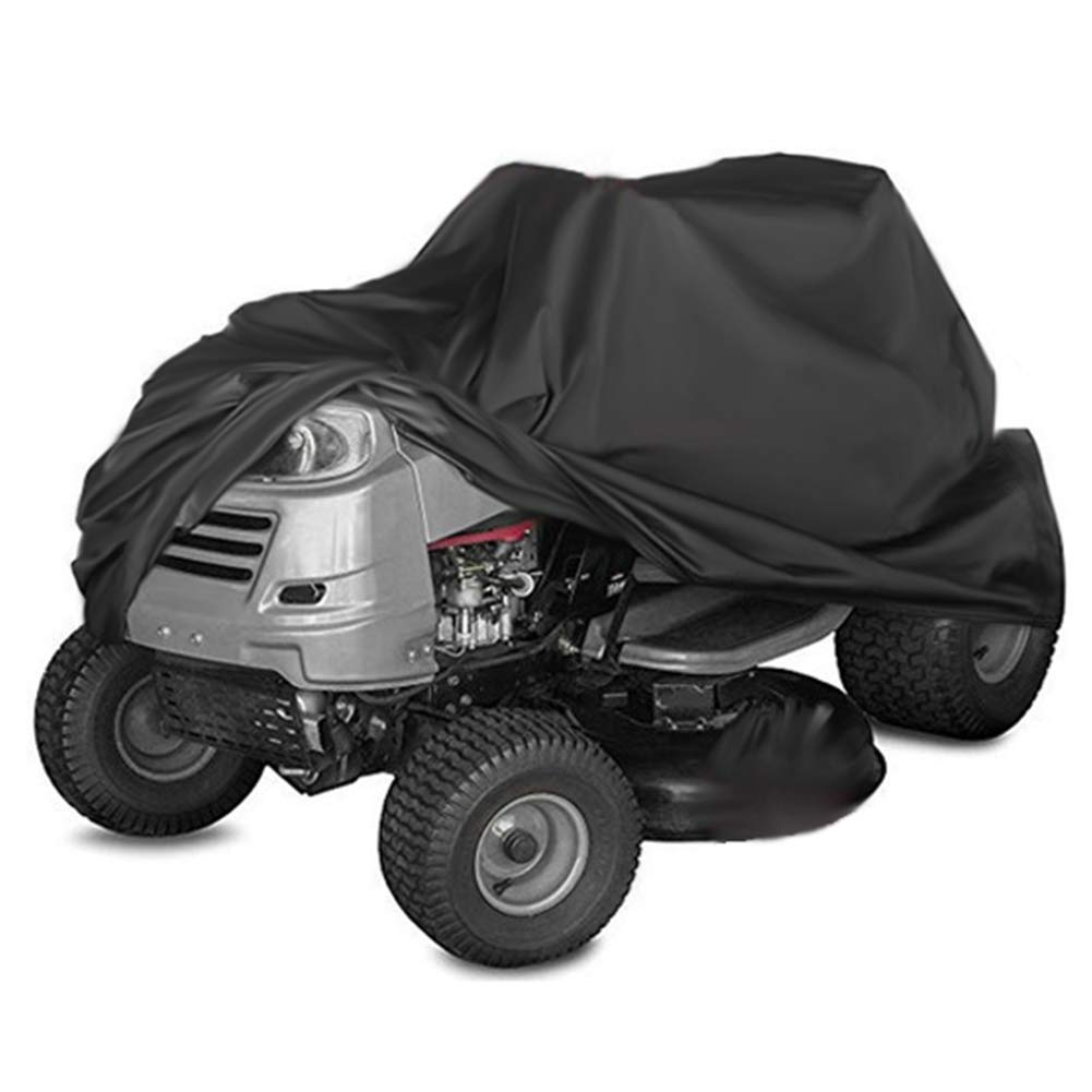 Kasla Waterproof Cover for Riding Lawn Mower and Ride-On Garden Tractor - Resistant Water UV Wind Dust Mildew, Heavy Duty 210D Oxford Outdoor Shelter (70 × 43 × 43 inch)