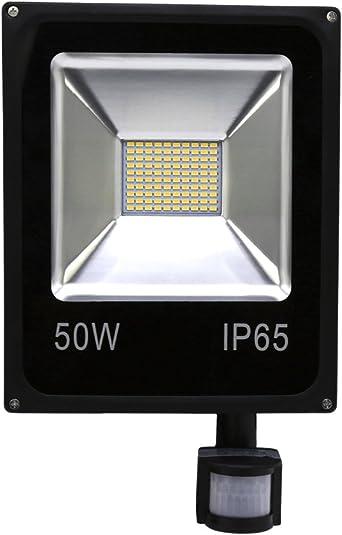 HG® 50W Blanco Cálido Foco proyector LED PIR sensor detección de ...