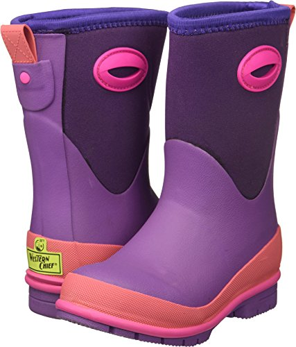 Western Chief Kids Cold Rated Neoprene Boot with Memory Foam Snow, Purple, 13 M US Little Kid