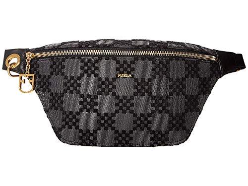 Furla Women's Furla Fortezza Belt Bag, Onyx, Black, Plaid, One Size