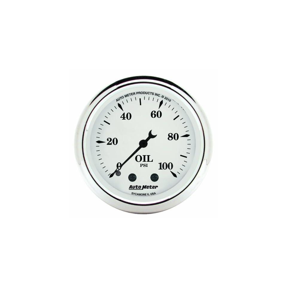 Auto Meter 1621 Old Tyme White 2 1/16 Oil Pressure Gauge