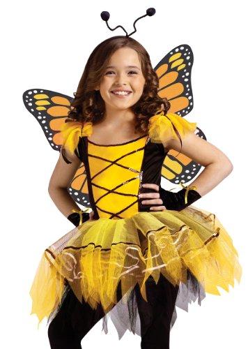 Ballerina Golden Butterfly Girls Costume - Child Size 8-10
