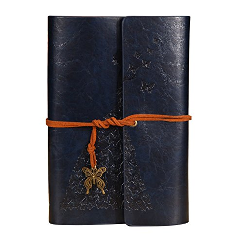 Frjjthchy Retro Refillable A6 Journal Writing Notebook Professional Diary Planner with PU Leather Cover (Dark blue) by Frjjthchy