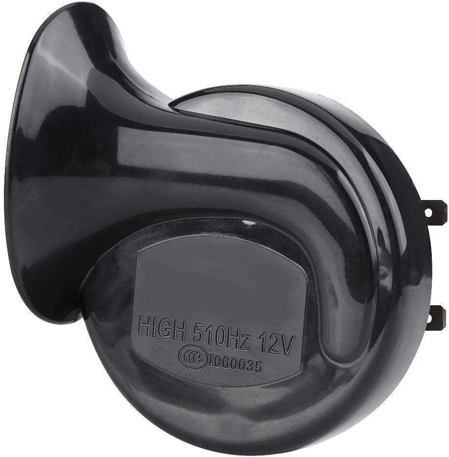Qiilu Horn f/ür Motorrad 110 Dezibel 12V Wasserdicht Schwarz