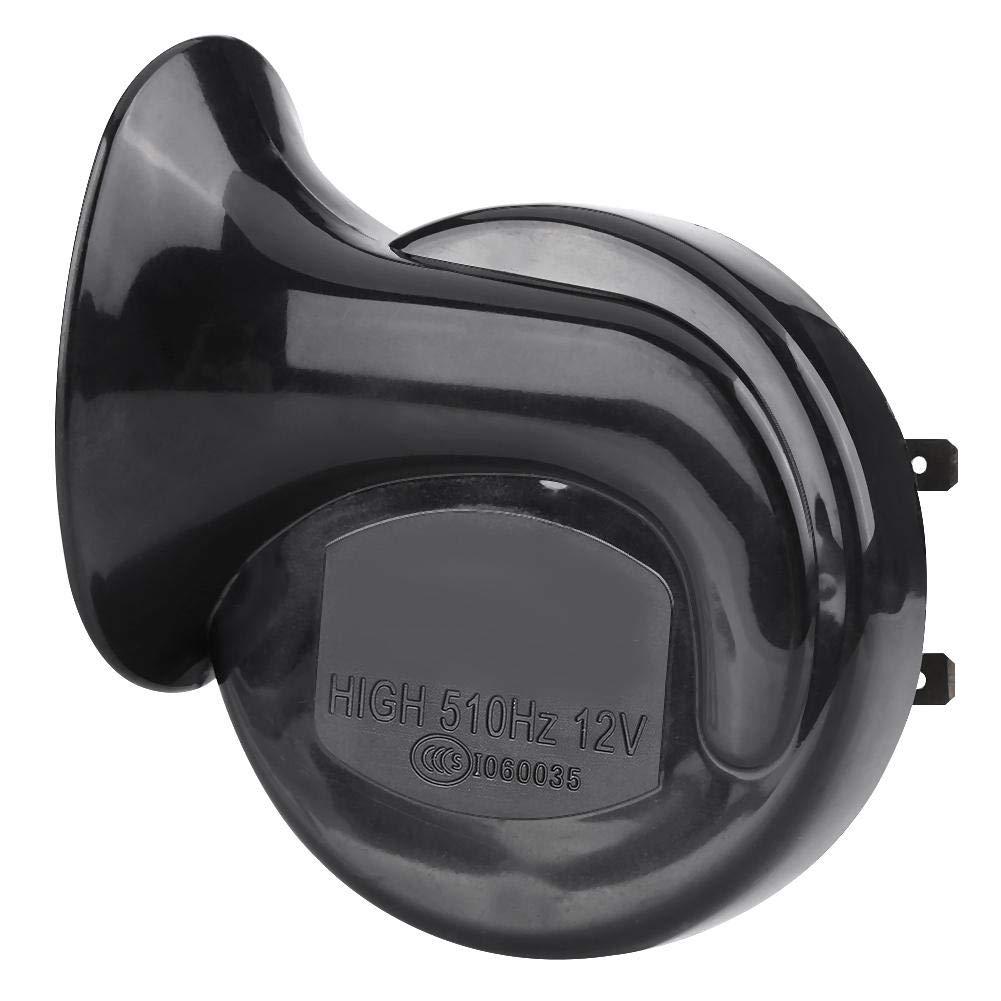 Qiilu Bocina para Motocicleta Negra 110dB 12V Impermeable
