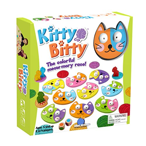 - Blue Orange Games Kitty Bitty Wooden Memory Game