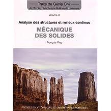 Mécanique des Solides (traité Génie Civil T.3)