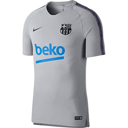 cf419a77a24 Amazon.com   NIKE 2018-2019 Barcelona Training Shirt (Wolf Grey)   Sports    Outdoors