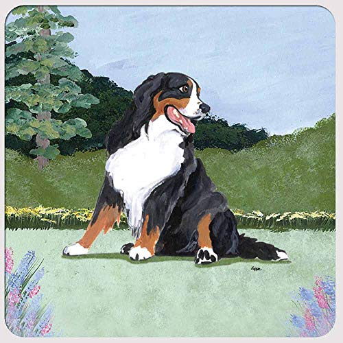 Zeppa Studios Bernese Mountain Dog Coasters - Set of 4