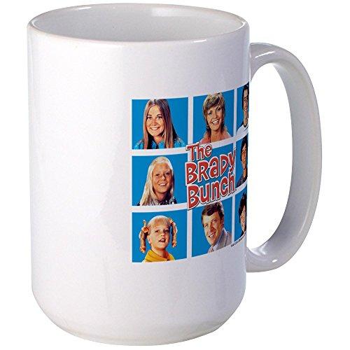(CafePress The Brady Bunch Grid Large Mug Coffee Mug, Large 15 oz. White Coffee Cup)