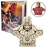 model kits marvel - Marvel Captain America: Civil War Iron Man Signature Series Book and 3D Wood Model Kit - Build, Paint and Collect Your Own Wooden Model - Great for Kids and Adults,12+ - 4 1/2