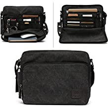 Mlife Brand Men Canvas Messenger Bag with Multi Pockets