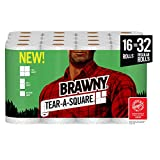 Kitchen & Housewares : Brawny Tear-A-Square Paper Towels, Quarter Size Sheets, 16 Count