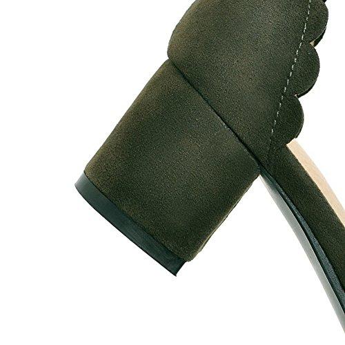 AgooLar à Correct Dépolissement Vert d'orteil Fermeture Sandales Boucle Femme Talon GMBLB014259 r56qx4wrT