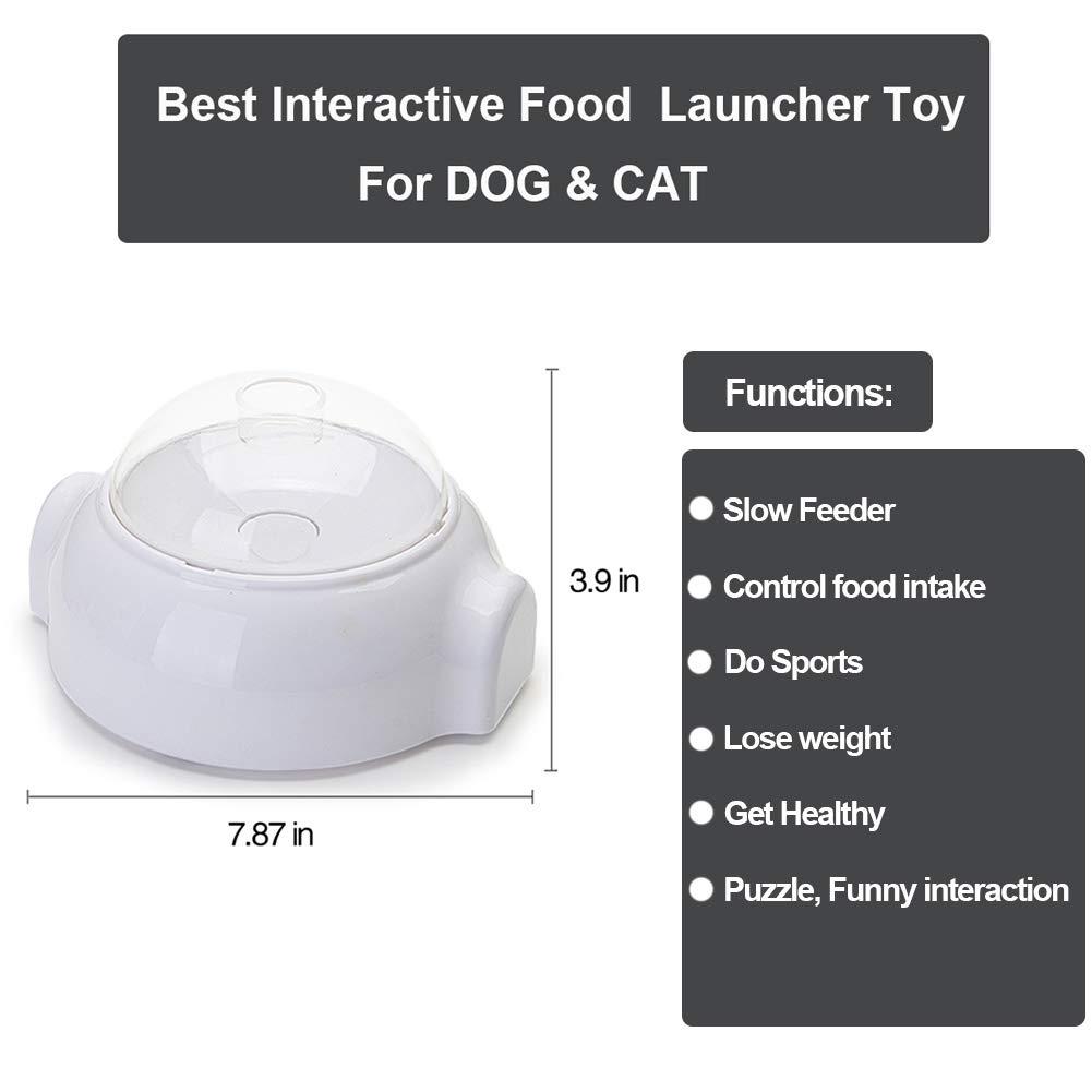 Lanzador de Alimentos para Mascotas, Flightbird Juguete Catapulta Interactiva de Comida para Mascotas Divertido para Perro Gato: Amazon.es: Productos para ...
