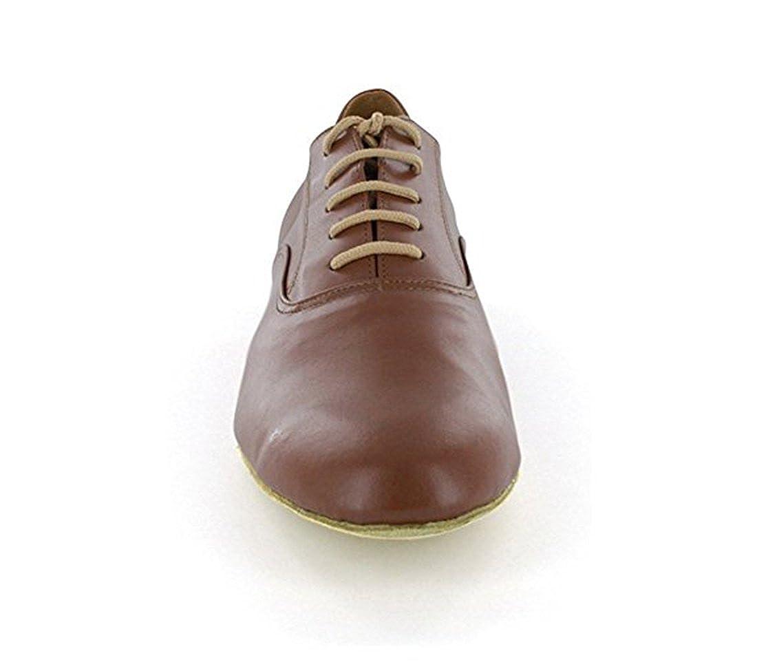 TDA Mens JF250509 Lace-up Comfort Standard Leather Ballroom Latin Dance Shoes TDALEEJF250509