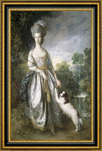 lady-brisco-by-thomas-gainsborough-19-x-28-framed-canvas-art-print-ready-to-hang