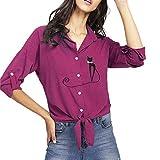 Longra Hot Women Blouse, Ladies Autumn Print Cat Plus Size Knotted Hem Shirt Tops Blouse for Girl and Women