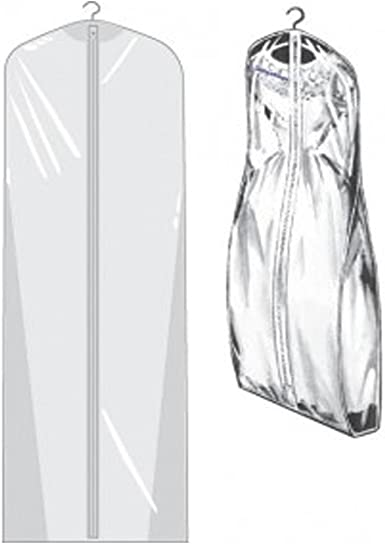 "Breathable Bridal Wedding Garment Dress Bag White Mesh Extra Large 72/"""
