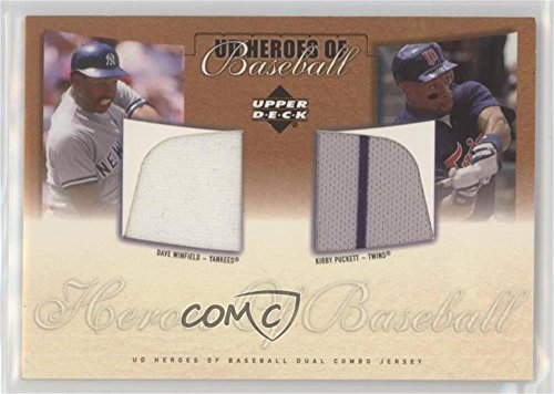 Kirby Puckett; Dave Winfield (Baseball Card) 2001 Upper Deck Prospect Premieres - Heroes of Baseball Dual Combo Jerseys #J-WP