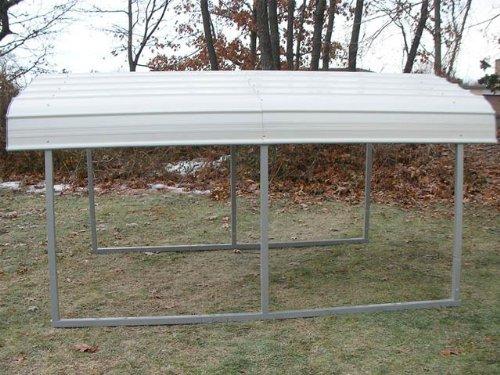 MDM Rhino Shelters All-Steel Buildings RV Steel Carport in Grey by Rhino