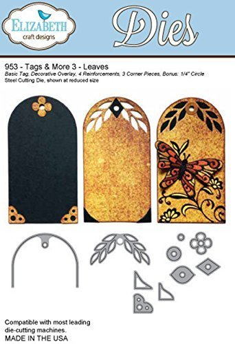 Elizabeth Craft Designs Steel Die - Tags & More 3 -Leaves - 953 by Elizabeth Craft Designs by Elizabeth Craft Designs