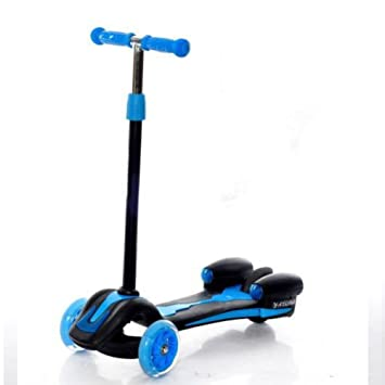 Nclon Niños Patinetes Ajustable ,3 Ruedas Luces leds Scooter ...