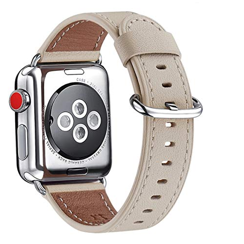 WFEAGL Compatible iWatch Band 38mm 40mm 42mm 44mm, Top Grain