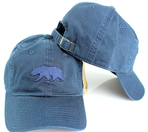 American Needle Cali Bear Tonal Ballpark Slouch Cotton Twill Adjustable Hat (Navy) ()