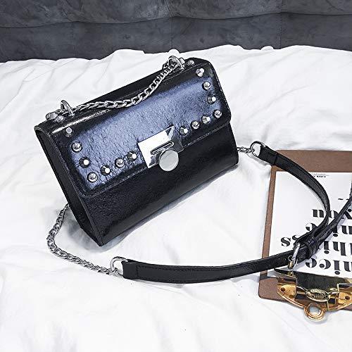 carré Sauvage Mode chaîne Noir de Sac marée féminine Sac d'été WSLMHH épaule Messager Petit Petit Sac Sac wRgYqqz