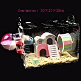 toparchery Acrylic Hamster Cage Transparent Clear View Single Layer Mice Mouse Gerbil Castle Rat House