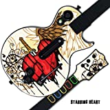 #8: MightySkins Protective Skin Decal Cover Sticker for GUITAR HERO 3 III PS3 Xbox 360 Les Paul - Stabbing Heart