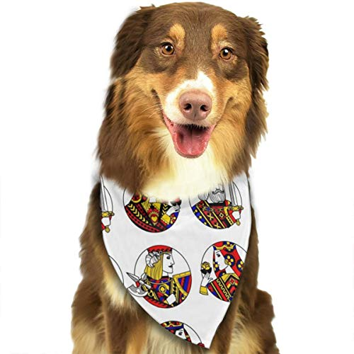 TNIJWMG Playing Card Decoration Bandana Triangle Bibs Scarfs Accessories for Pet Cats and Puppies -