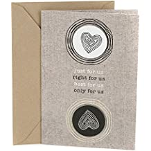 Hallmark Anniversary Greeting Card (Two Hearts)