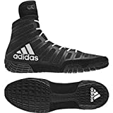 adidas adiZero Varner Mens Wrestling Shoes, Black/White/Black Size 10