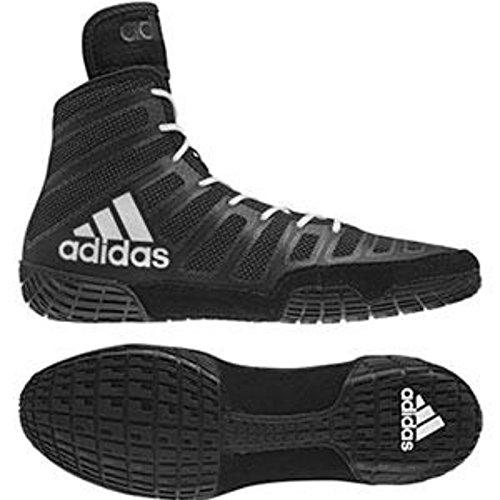 adidas adiZero Varner Mens Wrestling Shoes, Black/White/Black Size 10 by adidas